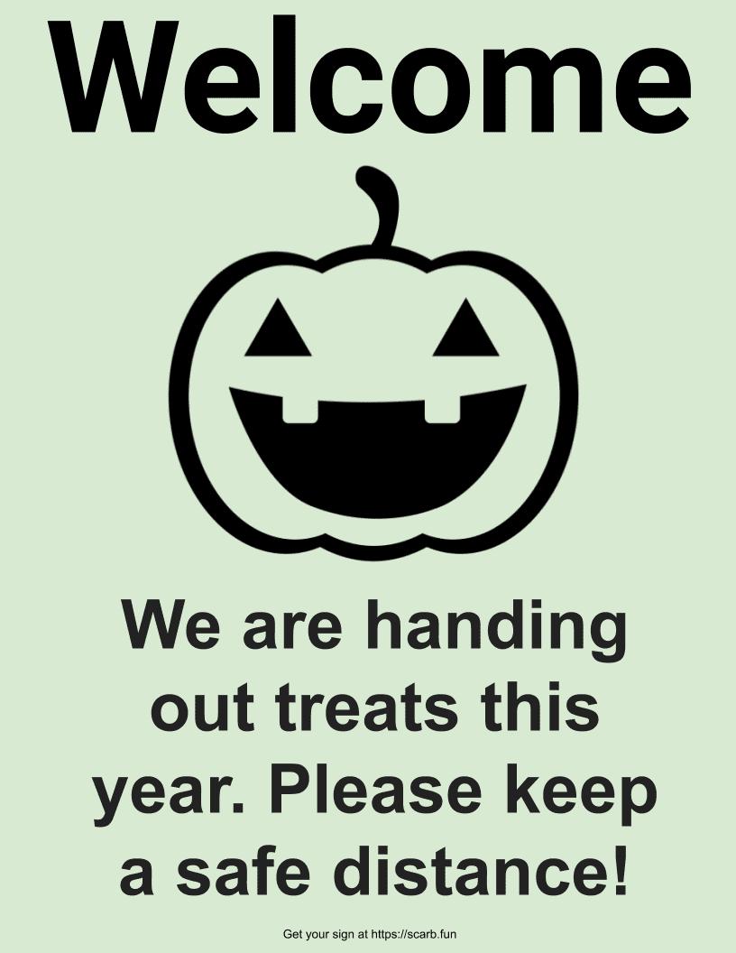 Welcome Jack-o-lantern Welcome Scareborough 2020 Sign